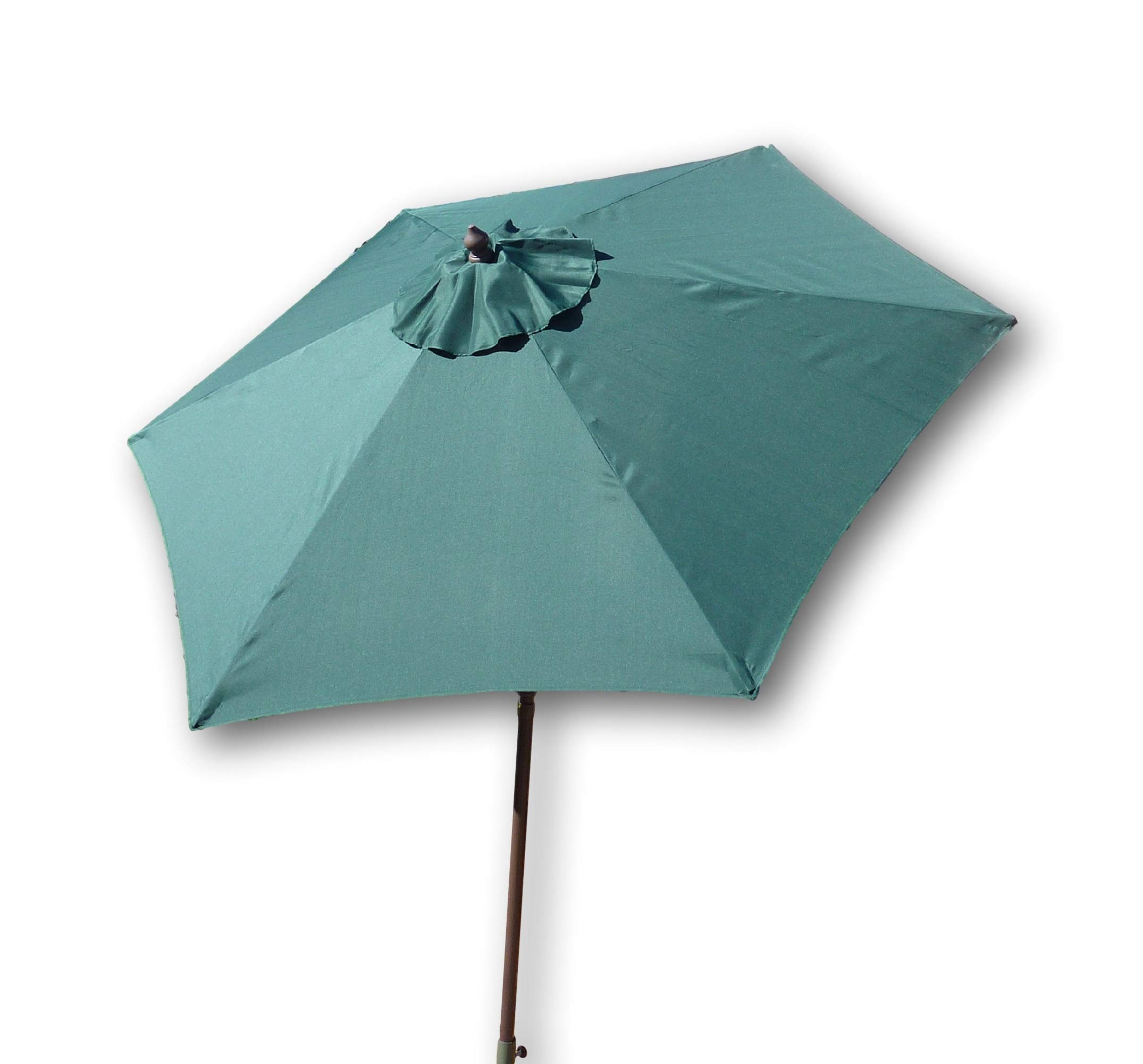 Formosa Covers 7.5 Foot Aluminum Market Umbrella, Crank & Tilt, Strong Fiberglass Ribs, UV Treated, Perfect for Patio, Small Bistro, Deck - Color in Hunter Green - Hunter Green 7.5ft market umbrella with strong and flexible fiber glass ribs and vents for airflow Aluminum frame with Powder coated Bronze finish prevents rust and is lightweight and easy to move Instantly direct shade with easy crank and tilt mechanism - perfect for pool, bistro, deck, patio - shades-parasols, patio-furniture, patio - 715diGkAMuL -