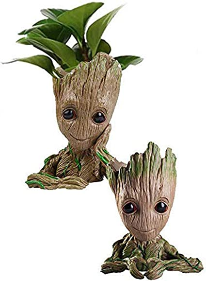 Guardians of The Galaxy Baby Groot planter Pen holder Flower pot Tree Man