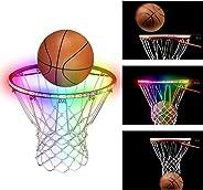 OPOLEMIN LED Basketball Hoop Light - Basketball Rim LED Sensor Light Basketball Net Accessories Perfect for Kids Adults Parti
