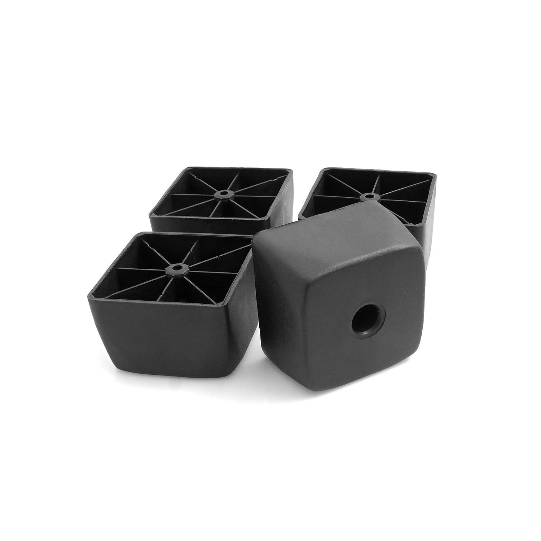 Design61 4er Set Kunststoff-M/öbelgleiter M/öbeluntersetzer Sofa Sessel zum Anschrauben Kunststoff M/öbelgleiter /Ø 45 x H 40 mm schwarz