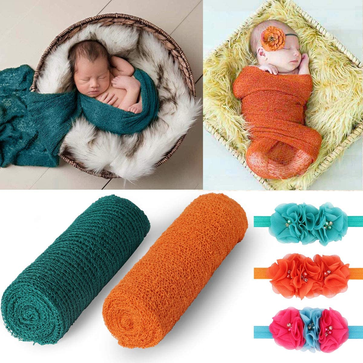 Newborn Baby Boys Girls Soft Stretch Cheesecloth Wrap Photography Photo Props