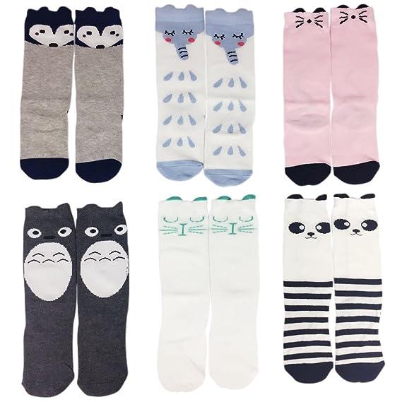 3a896b859d2b2 Jastore 6 Pairs Unisex Baby Girl Boy Socks Knee High Socks Animal Baby  Stockings (3
