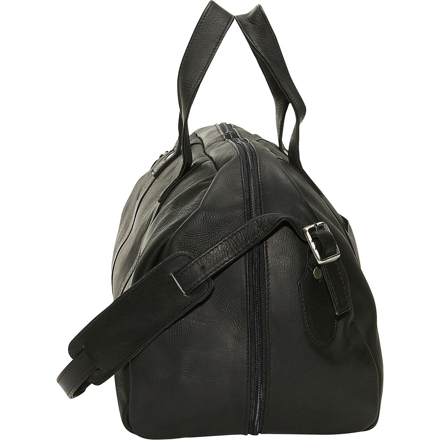 David King Leather Frame Duffel in Cafe