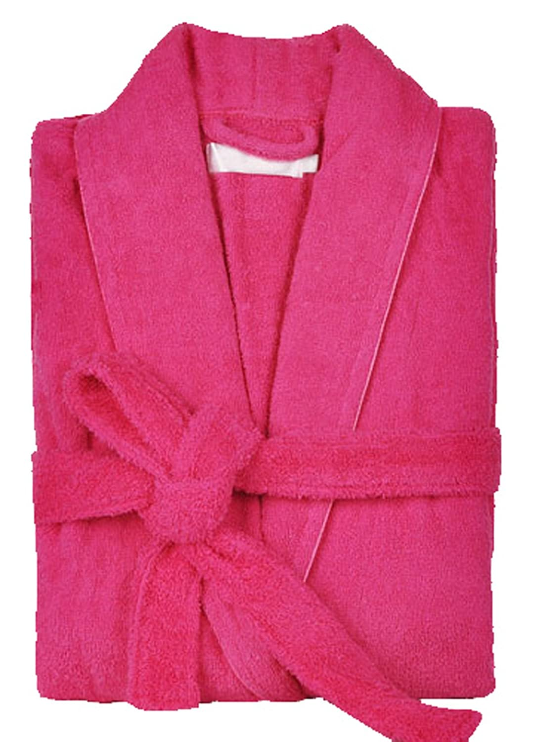 S.T.M Women's Winter 100% Cotton Thick Terry Cloth Robe Knee Length Cotton Robe