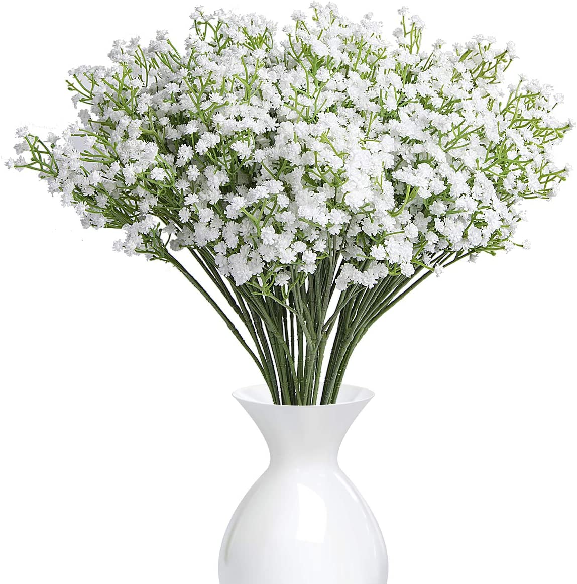 Amazon Com Ysber 10pcs Baby Breath Gypsophila Artificial Fake Silk Plants Wedding Party Decoration Real Touch Flowers Diy Home Garden White Furniture Decor