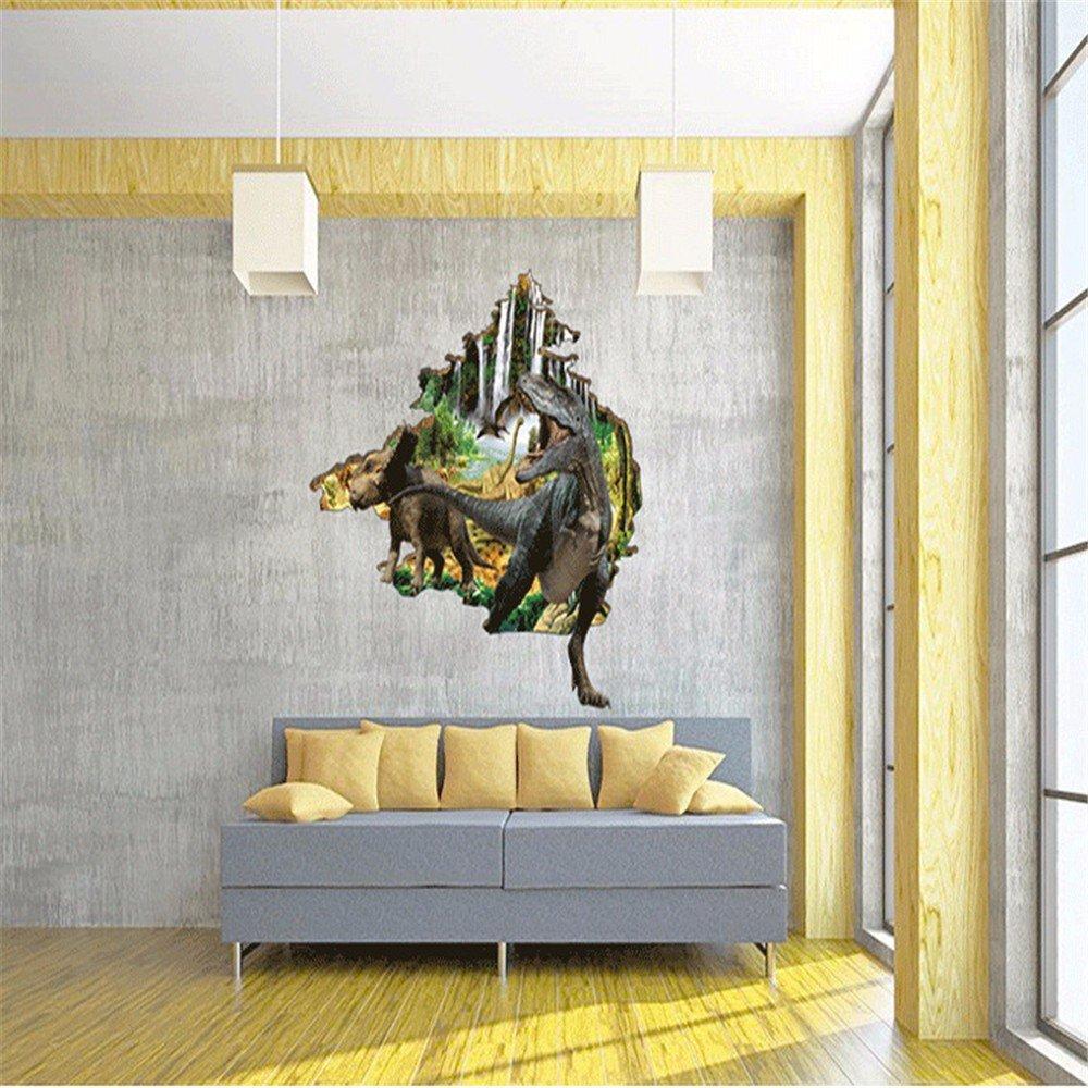 60 * 90cm D/&D-Wall Stickers D/écorations de No/ël pour Halloween 3D Coller des Autocollants // Stereo//Sol // Creative//Chambre des Enfants//Chambre // d/écoration//Mur // Sticker//p/âte Dinosaure