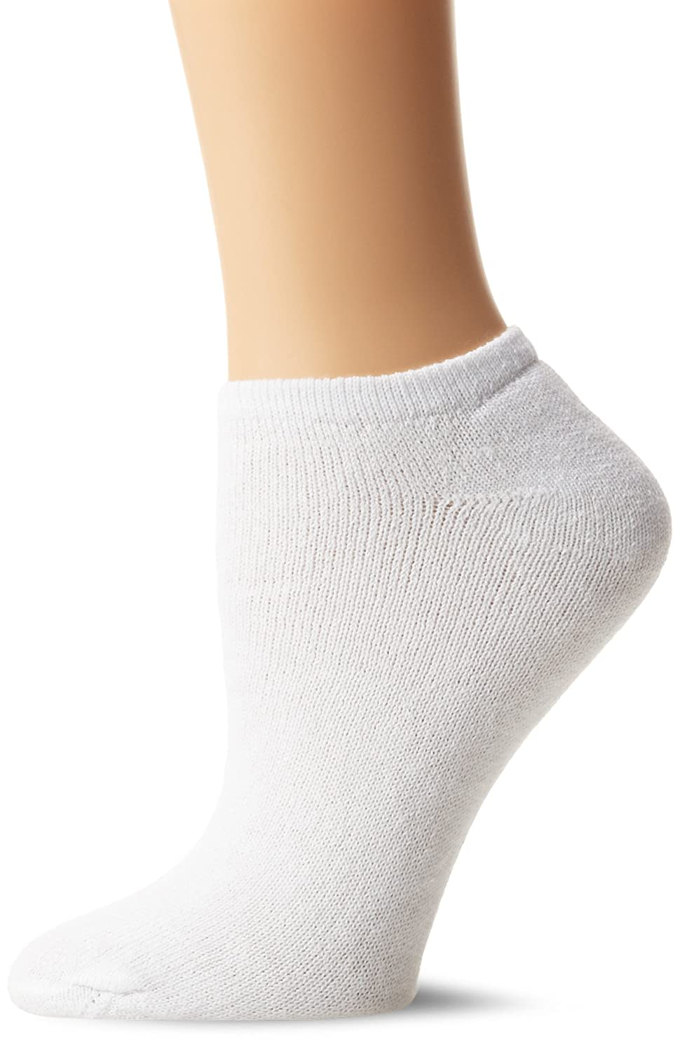 Fruit Of The Loom Women's 10 Pack Cushioned No Show Socks White F8070-WX