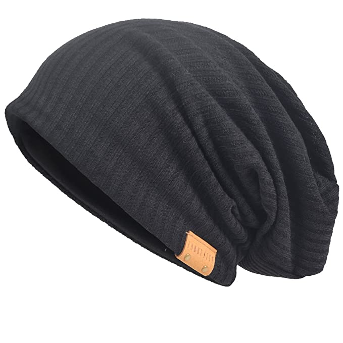 82241ea9596 VECRY Men s Cotton Beanie Slouch Skull Cap Long Baggy Hip-Hop Winter Summer  Hat (
