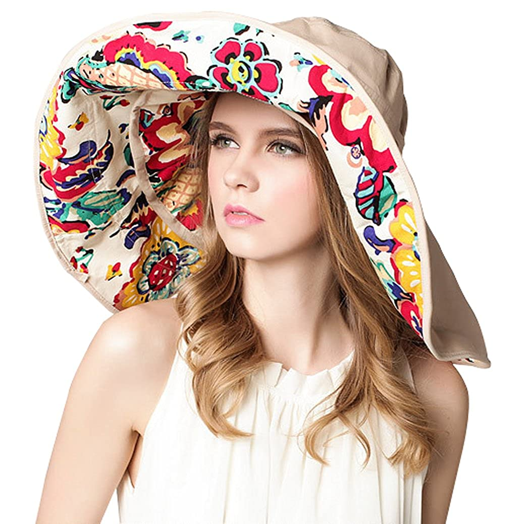 Kafeimali Women/'s Large Wide Brim Floppy Bucket Hat Sun Summer Beach Caps UPF 50+