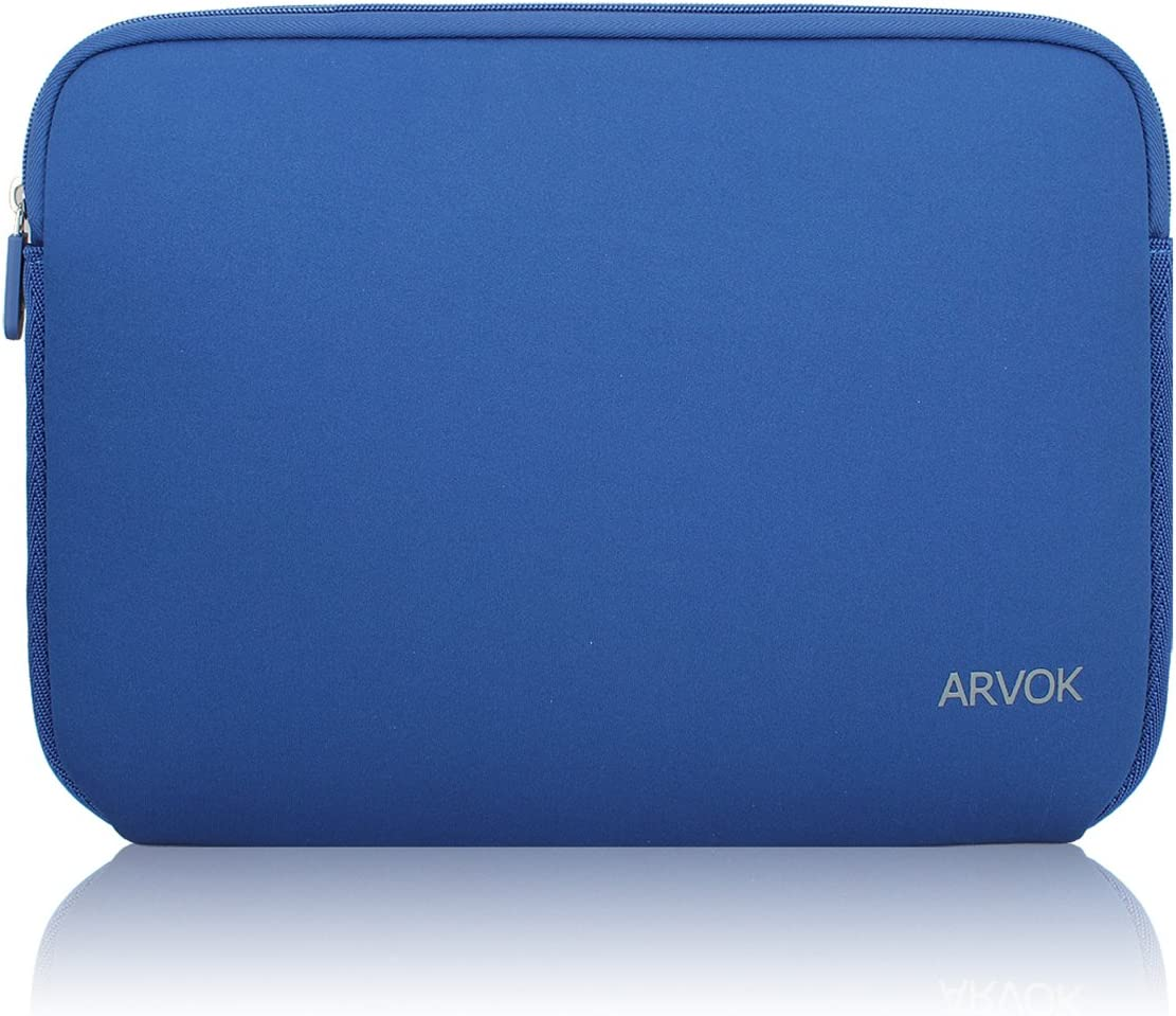 Arvok 15-15.6 Inch Laptop Sleeve Multi-Color & Size Choices Case/Water-resistant Neoprene Notebook Computer Pocket Tablet Briefcase Carrying Bag/Pouch Skin Cover For Acer/Asus/Dell/Lenovo, Dark Blue
