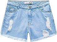 Shorts Jeans Comfort, Malwee, Feminino