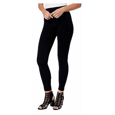 Hue Womens Brushed Seamless Leggings/ Footless Tights Black Medium/Large