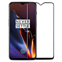 CASE U Tempered Glass for OnePlus 6T (Pack of 1, Black)