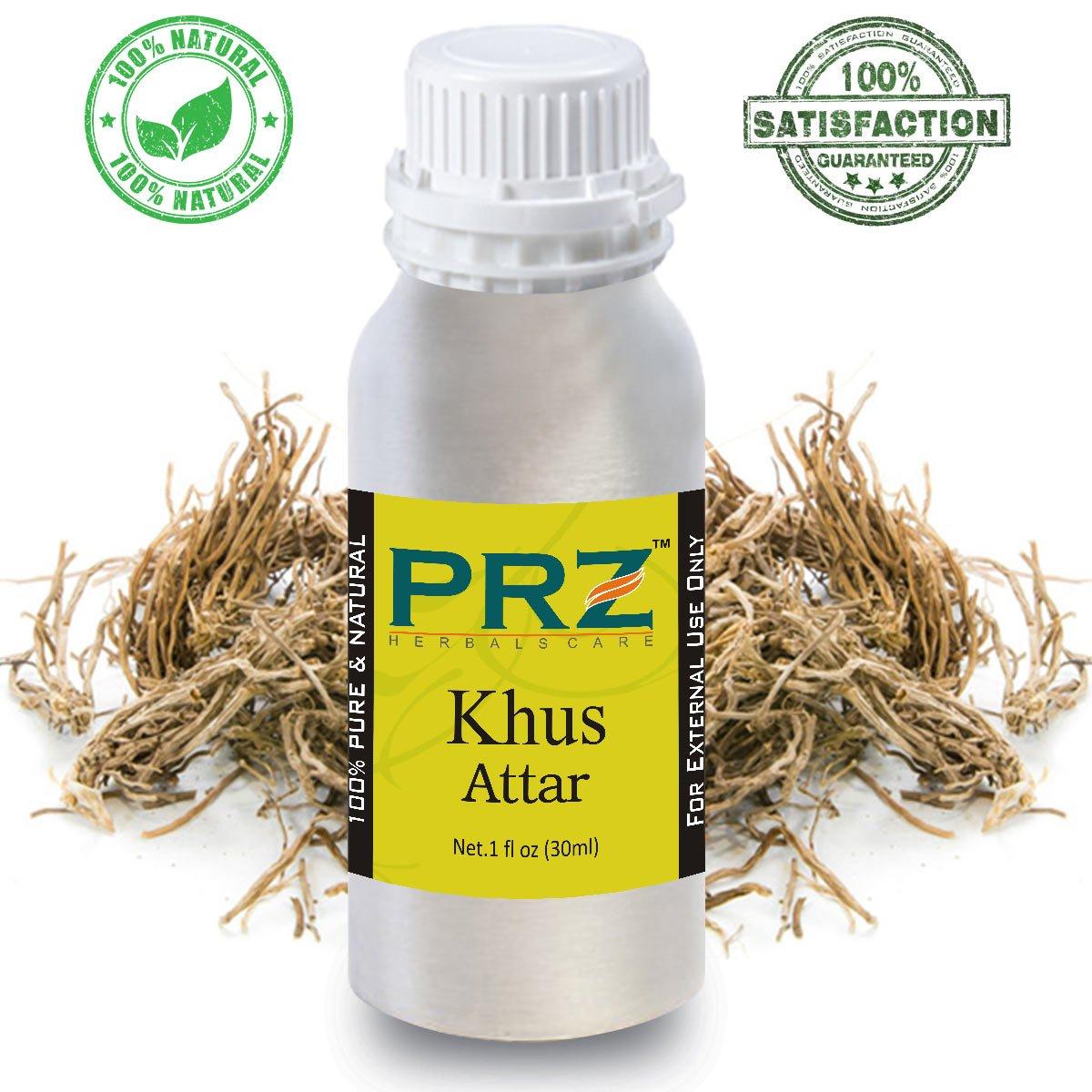 Prz Khus Attar For Unisex 100 Ml Pure Natural Premium Quality Gieve Original Body Oil Perfume Non Alcoholic Beauty