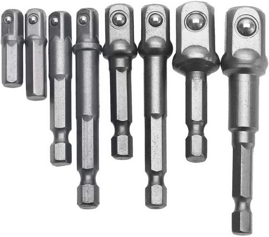 8 Pzas Adaptador de puntas de impacto con vástago hexagonal para ...
