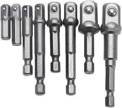 """3//8/"""" Vierkant Für Steckschlüssel 8x Bohrmaschinen Adapter Satz Auf 1//4/"""" 1//2/"""""""