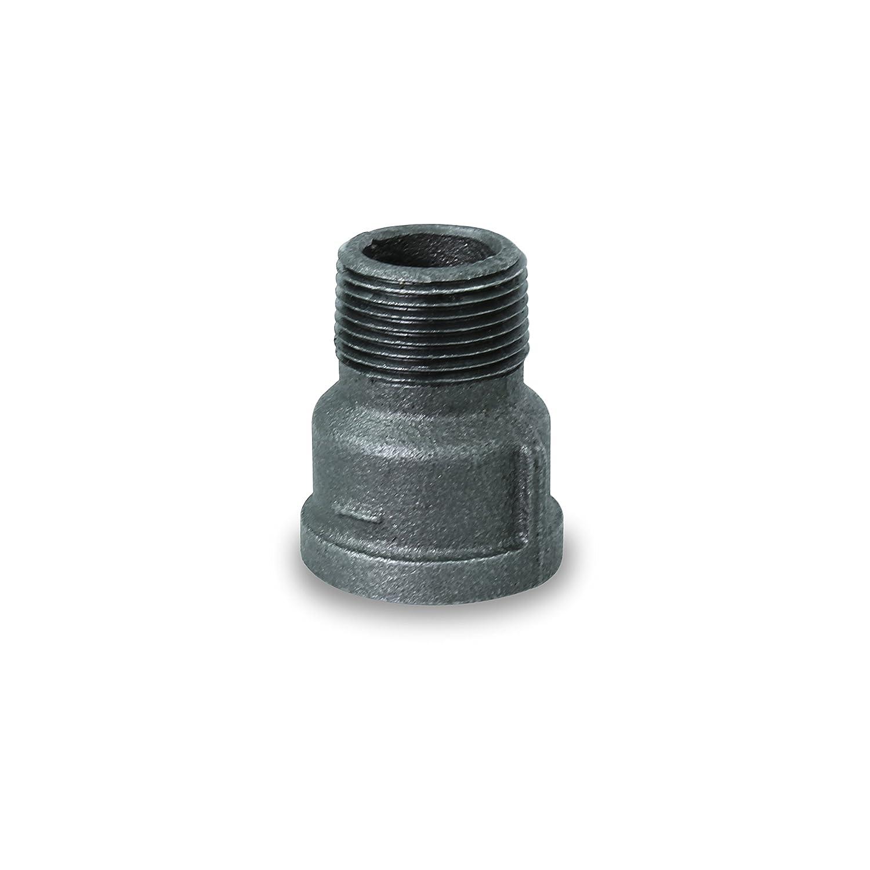 2 Everflow Supplies BMEP0200 Black Malleable Extension Piece