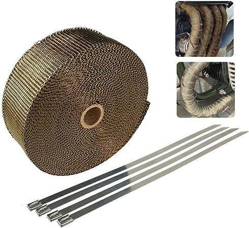 5m chaleur ruban 50mm Noir 1000 ° C *** Heat wrap échappement Bande ruban isolant