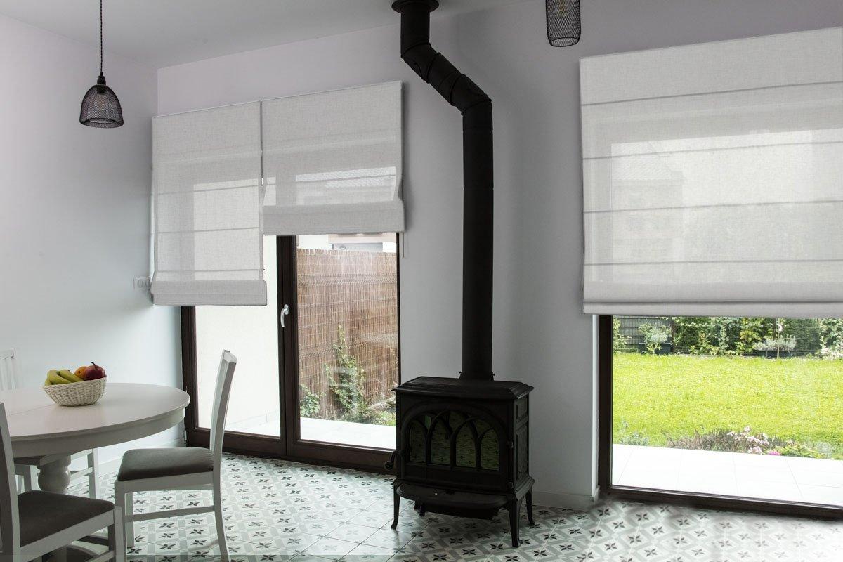 Raffrollo nach Maß, hochqualitative Wertarbeit, alle Größen verfügbar, für Fenster und Türen, Maßanfertigung, Befestigung durch Schrauben an Wand oder Decke (200cm Höhe x 80cm Breite   Beige)