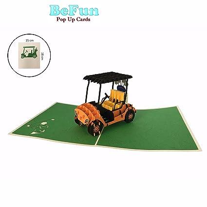 Amazon.com : Be Fun Pop Up Cards- Golf Cart-Gift for Men-Boys ... on plow boy, golf bag boy, shopping cart boy,