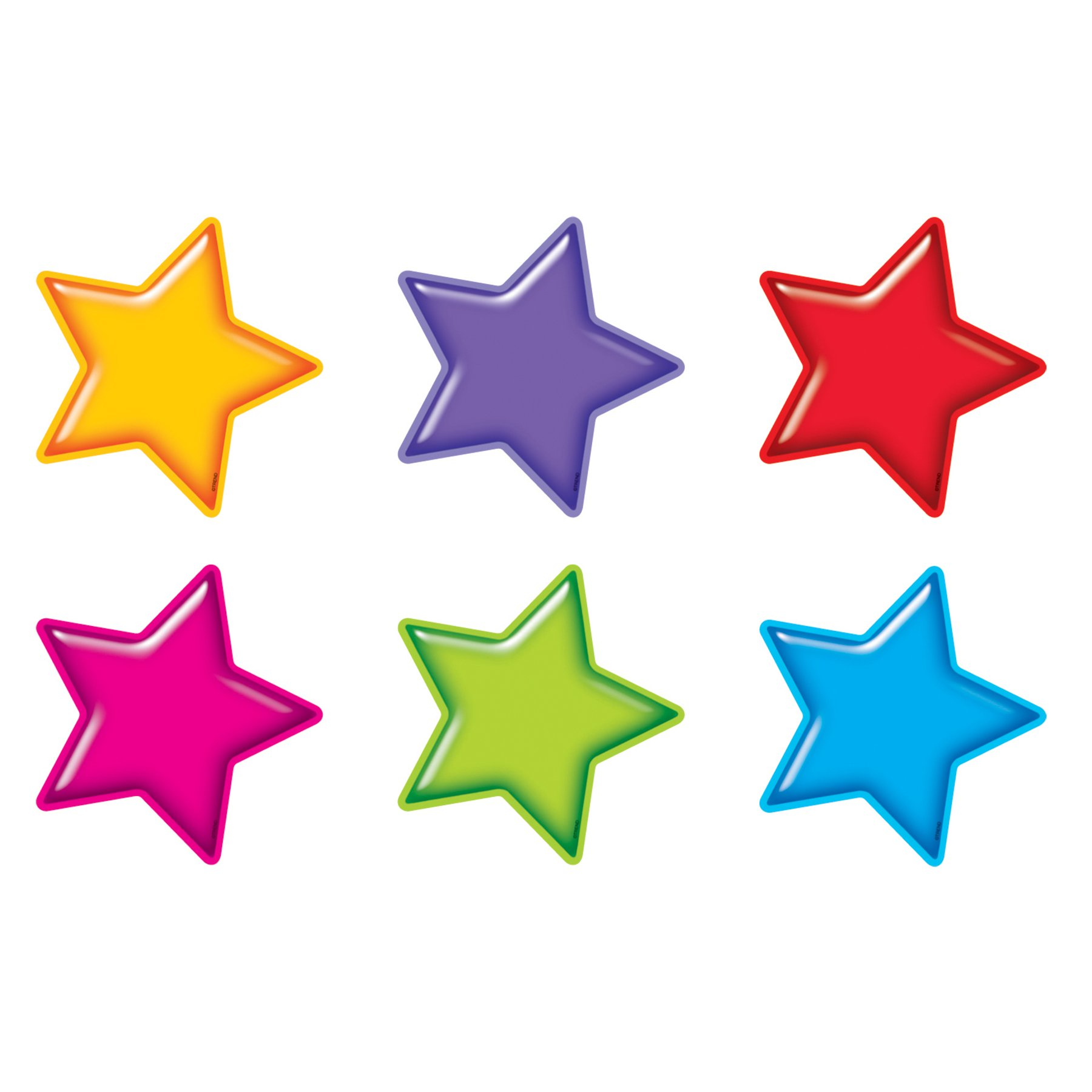 TREND enterprises, Inc. T-10968BN Gumdrop Stars Classic Accents Variety Pack, 36 Per Pack, 6 Packs by TREND Enterprises