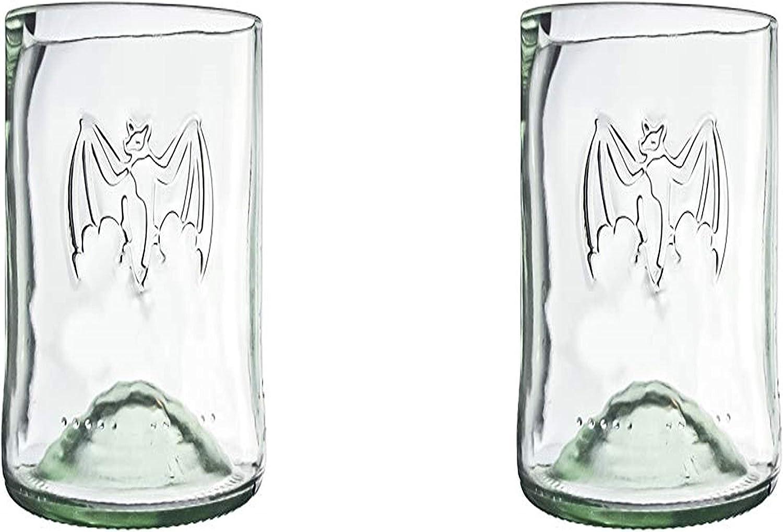 Amazon Com Bacardi Rum Tall Highball Pint Drinking Glasses Set Of 2 Custom 16 Oz Cups Highball Glasses