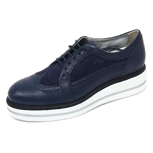 C8070 scarpa inglese donna HOGAN H323 n. route zeppa derby blu shoe woman   Amazon.it  Scarpe e borse 44438309292