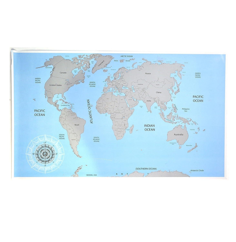 Grande Rasca Mapa Mundial de viaje con Fun Ciudad hechos de regalo personalizada Multicolor –  Regalo perfecto para los viajeros, exploradores y Aventureros E Bargains UK