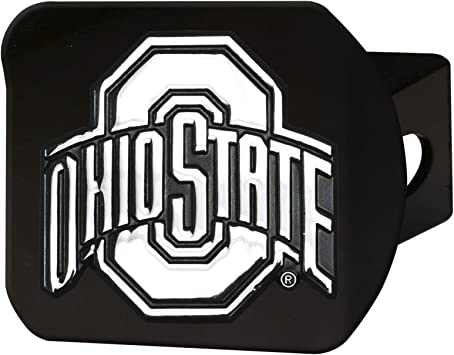 FANMATS 21043 Team Color 4-1//2 x 3-3//8 Ohio State Black Hitch Cover