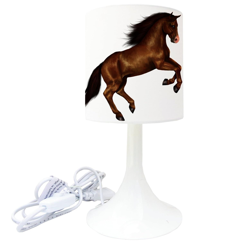 Lampe de chevet de création - Lampe à poser enfant - Animaux - Cheval (1) LMD