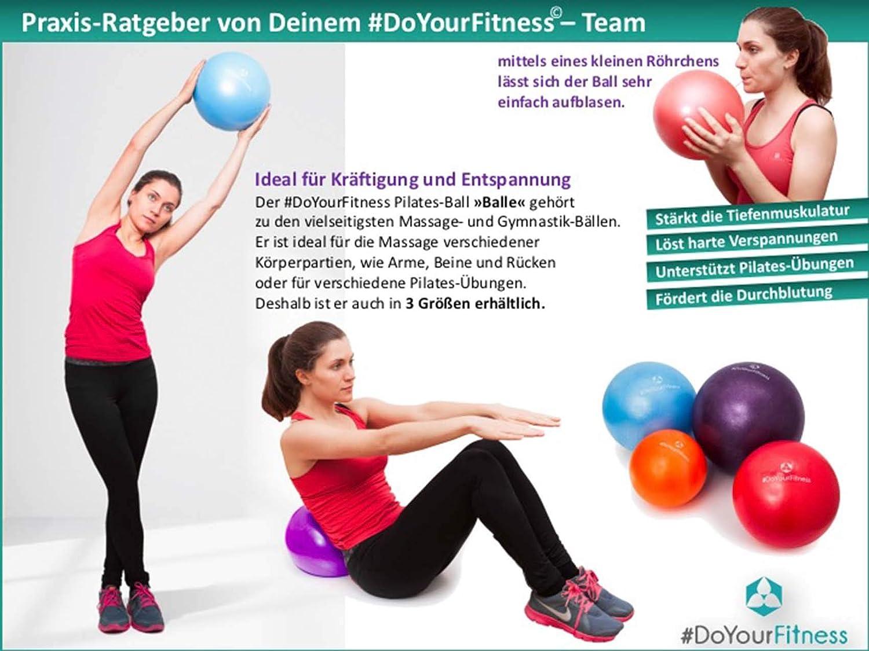 Mini Pilates Ball /»Balle/« 18cm // 23cm // 28cm // 33cm Gymnastikball f/ür Becken/übungen// St/ärkung der Bauchmuskulatur// Erh/ältlich in : Blau Gelb Silber Gr/ün T/ürkis Orange und Himmelblau Violett