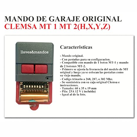 7b00c23640d Carcasaschulas - Telecomando per garage, Clemsa, Celinsa, Saw, Cyacsa,  Datavid,