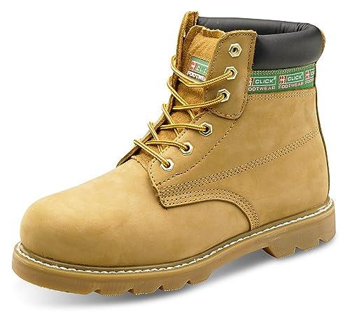 B-Click Footwear - Calzado de protección de cuero para hombre: Amazon.es: Industria, empresas y ciencia
