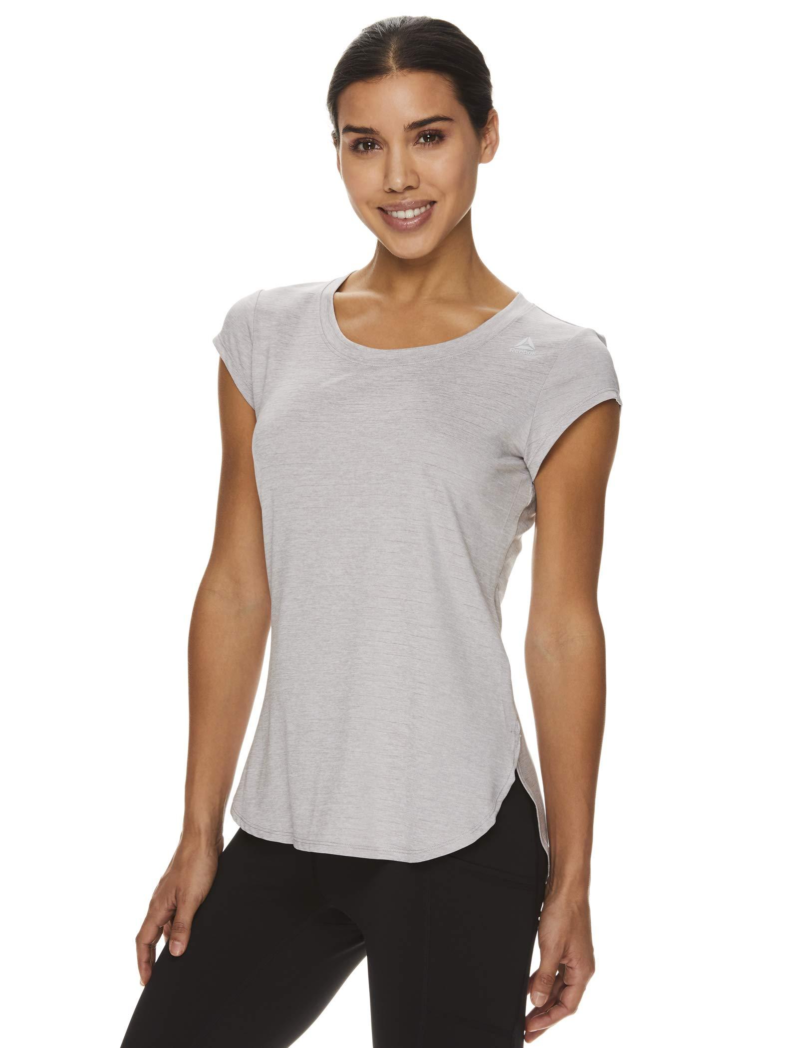 Reebok Women's Legend Running & Gym T-Shirt - Performance Short Sleeve Workout Clothes for Women - Silver Sconce Heather Legend Grey, Small by Reebok