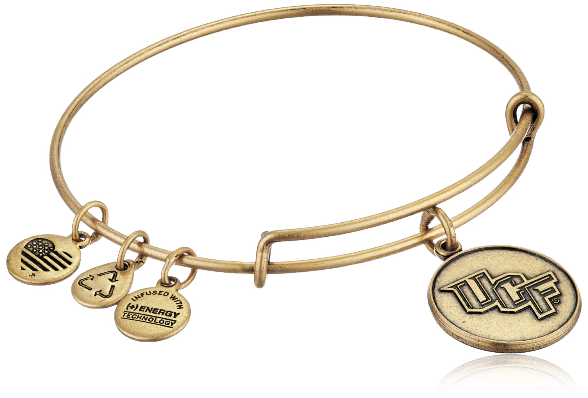 Alex and Ani University of Central Florida Logo Expandable Rafaelian Gold Bangle Bracelet