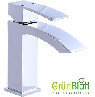 Grünblatt LED Wasserfall Bad Armatur Waschtischarmatur ... | {Badarmaturen wasserfall 86}