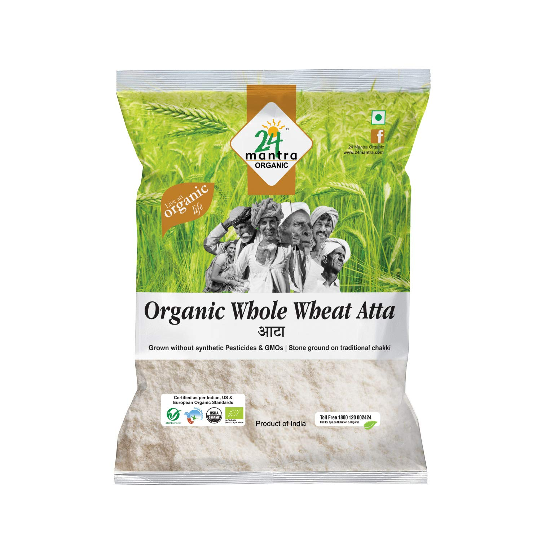 24 Mantra Organic Wholewheat Atta Premium, 1kg: Amazon.in: Grocery &  Gourmet Foods