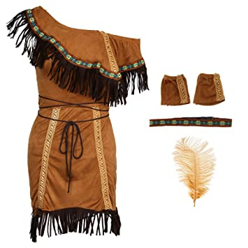 Indio Traje de India Mujeres Nativo Americano Tribal Cosplay ...