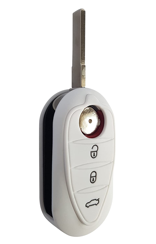 en silicone pour Alfa Romeo Giulietta Giulia Coque de cl/é de voiture CK MiTo Noir
