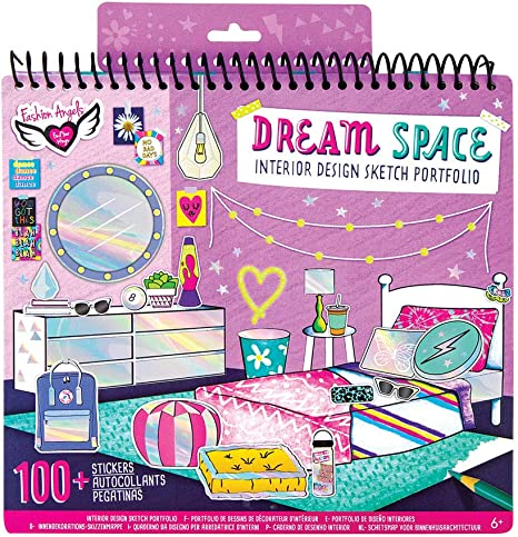 Fashion Design Sketch Book for Beginners Fashion Sketch Pad with Stencils and Stickers for Kids 6 and Up Fashion Angels I Love Fashion Sketch Portfolio for Kids