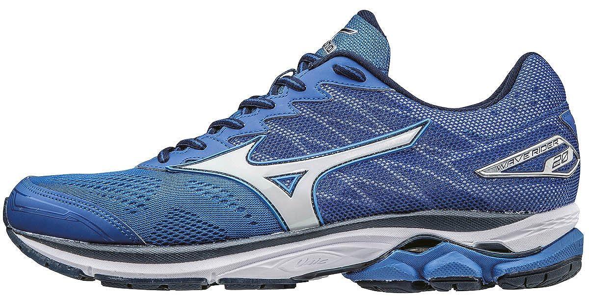 Mizuno Wave Rider 20, Hauszapatos de Running para Hombre azul (Nautical azul blanco Dress azuls)