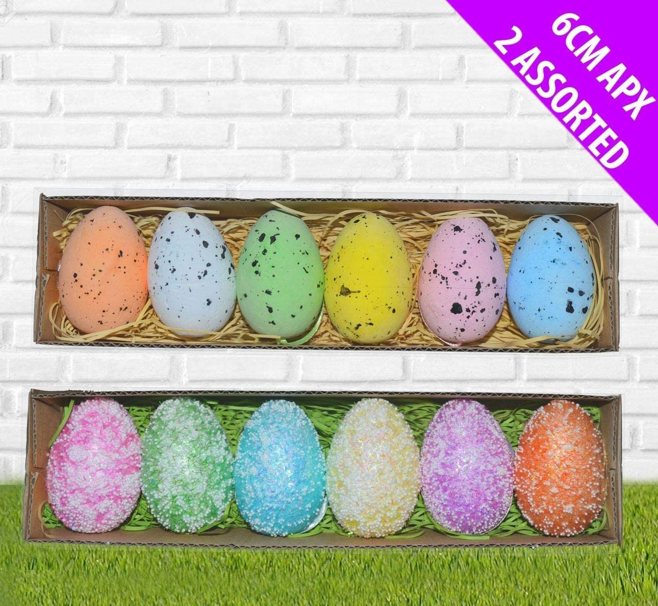 Jaymark Easter Egg Decorations 12 Assorted Colourful Speckled Eggs Hanging Tree Ornaments Amazon Co Uk Kitchen Home