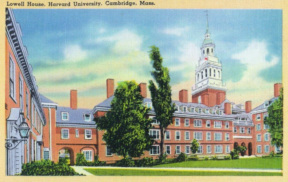 Cambridge、マサチューセッツ州 – Harvard University ;家の外部ビューLowell 24 x 36 Giclee Print LANT-30234-24x36 B00QPZ2DC2  24 x 36 Giclee Print