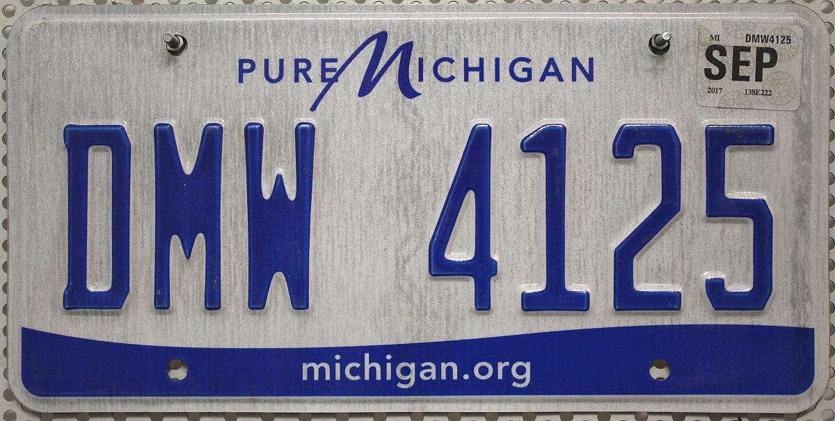 USA Nummernschild Michigan .org ~ US Kennzeichen License Plate ~ KFZ Blechschild