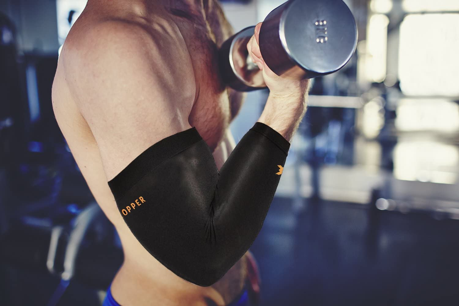 Thx4COPPER Elbow Compression Sleeve(1 Pair) - #1 Copper Infused Support –Guaranteed Recovery Copper Elbow Brace-Idea for Workouts, Sports, Golfers, Tennis Elbow, Arthritis, Tendonitis-Large: Health & Personal Care