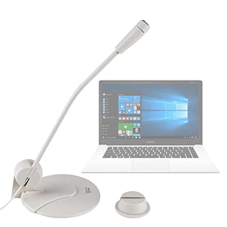 DURAGADGET Micrófono De Sobremesa para Portátil Chuwi LapBook Air/InnJoo LeapBook A100 / Prixton Netbook