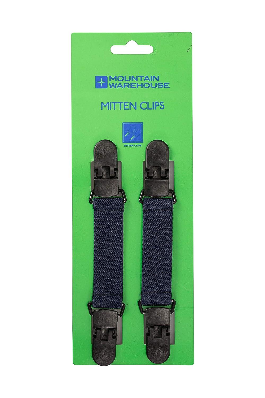 Mountain Warehouse Mitten Kids Clips - Attach Gloves to Coat Sleeve Blue