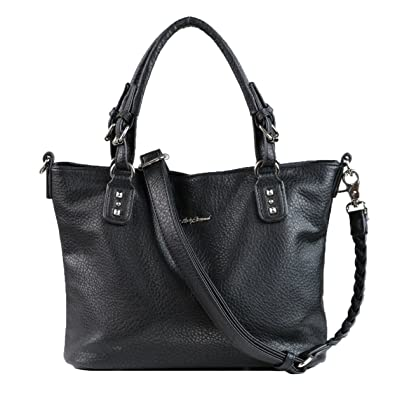 Amazon.com  Concealed Carry Purse - YKK Locking Ella Braided Concealed  Weapon Tote by Lady Conceal (Black)  Shoes 736e28425b915