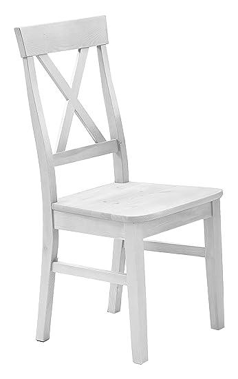 Jumek 126 Wss/wss Stuhl, Holz, Weiß, 45 X 94 X 43