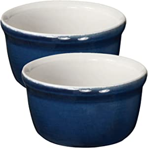 Emile Henry Made In France HR Modern Classics 2 Set Ramekin, Blue
